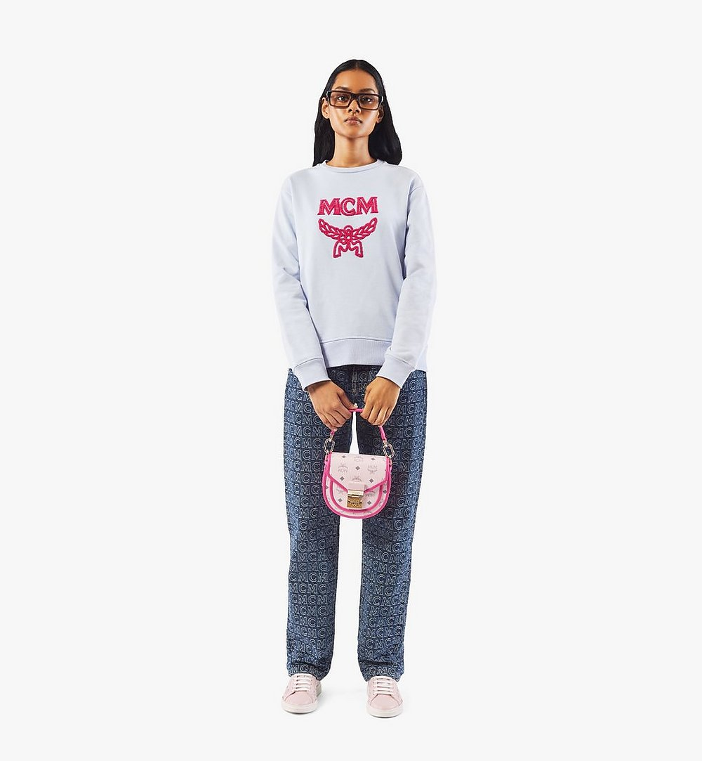 MCM Patricia Schultertasche in Visetos Leather Block Pink MWSAAPA09QH001 Noch mehr sehen 4