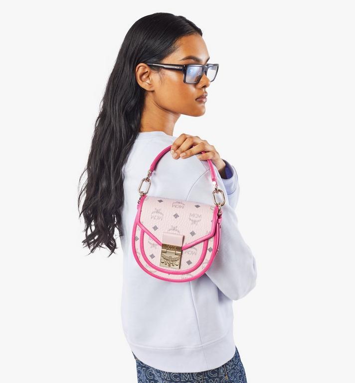 MCM Patricia Shoulder Bag in Visetos Leather Block Pink MWSAAPA09QH001 Alternate View 7