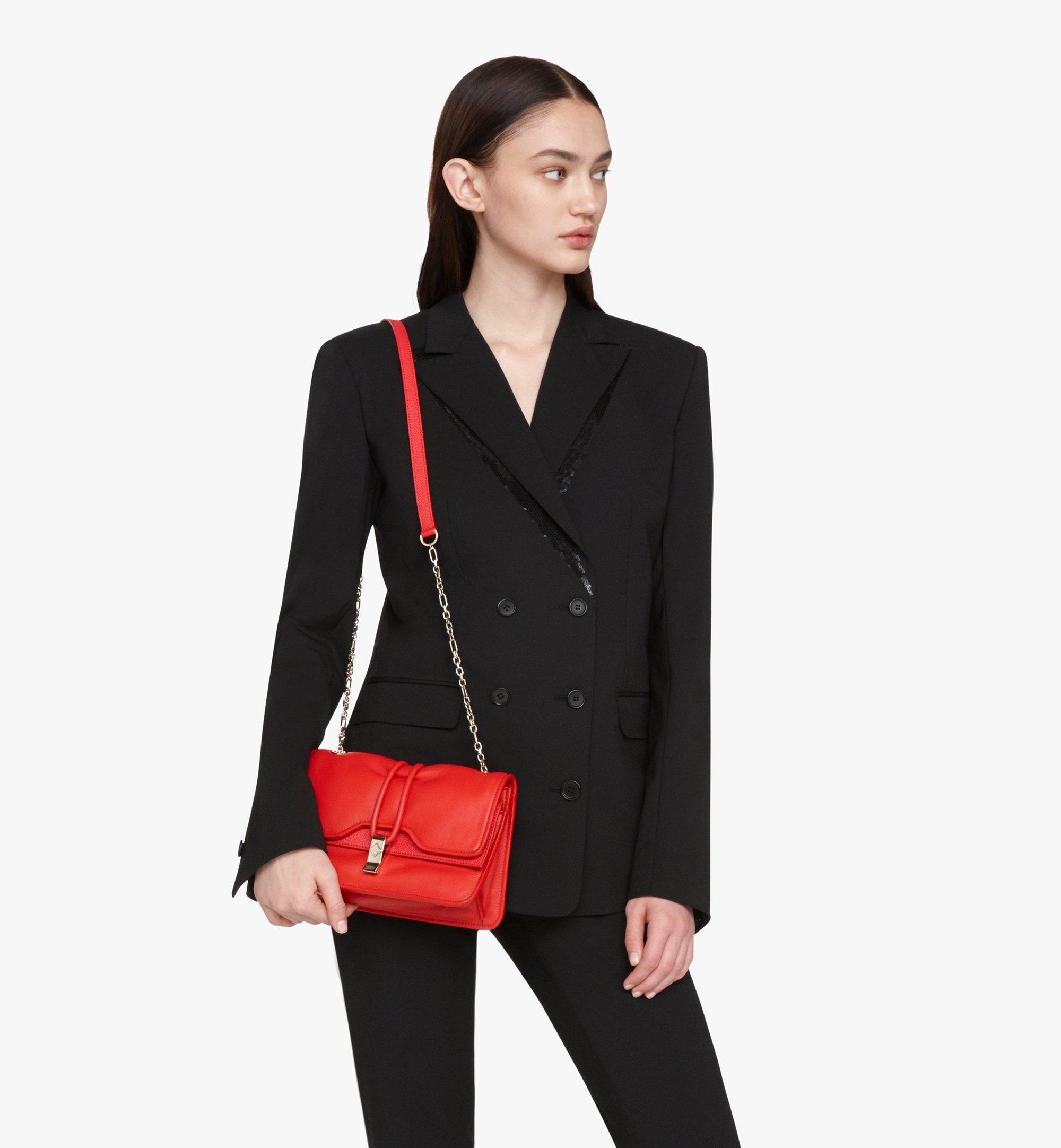 MCM Candy Shoulder Bag in Nappa Leather Red MWSASCY05R4001 Alternate View 5