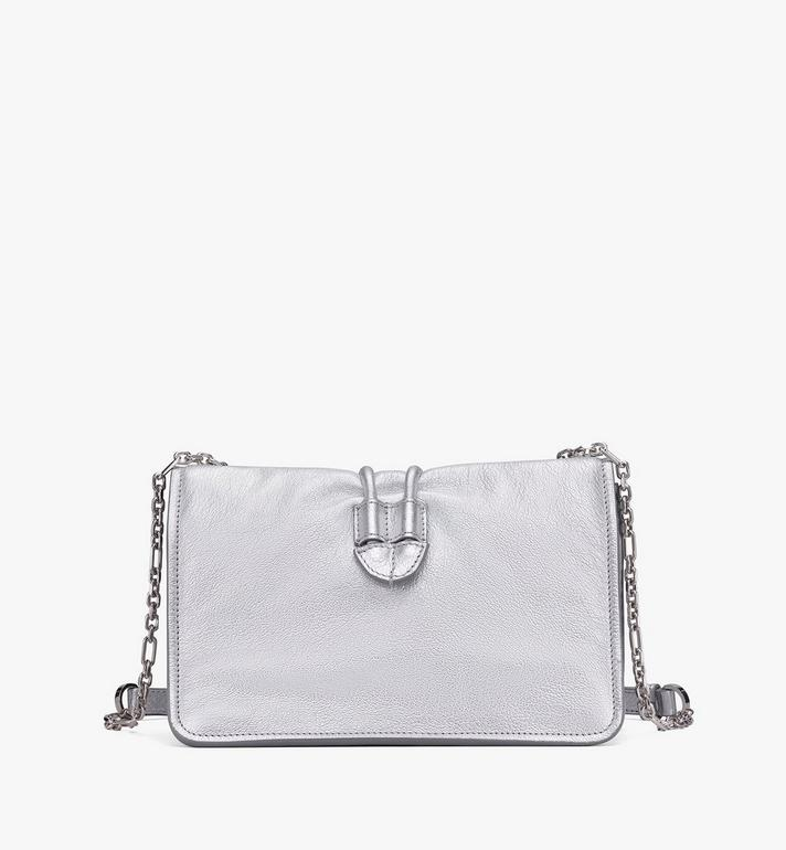 MCM Candy Shoulder Bag in Metallic Goat Leather Silver MWSASCY06SE001 Alternate View 3