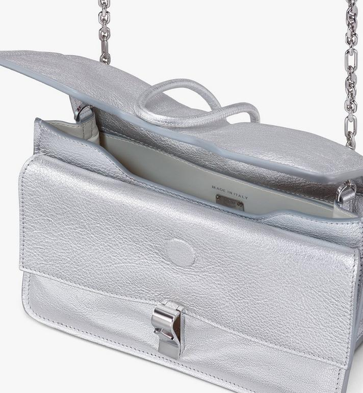 MCM Candy Shoulder Bag in Metallic Goat Leather Silver MWSASCY06SE001 Alternate View 4