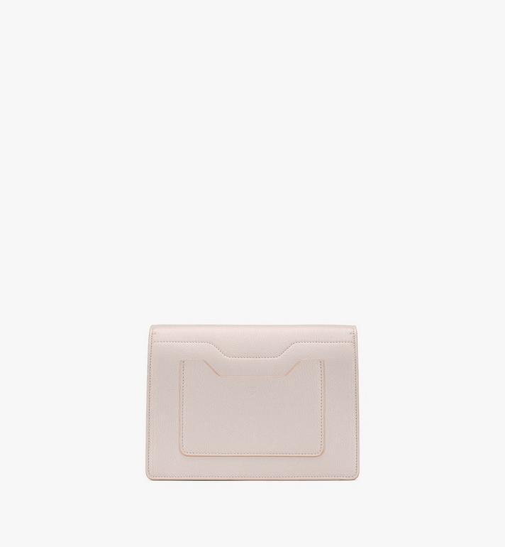 MCM Milano Shoulder Bag in Goatskin Leather Beige MWSASDA01IH001 Alternate View 3