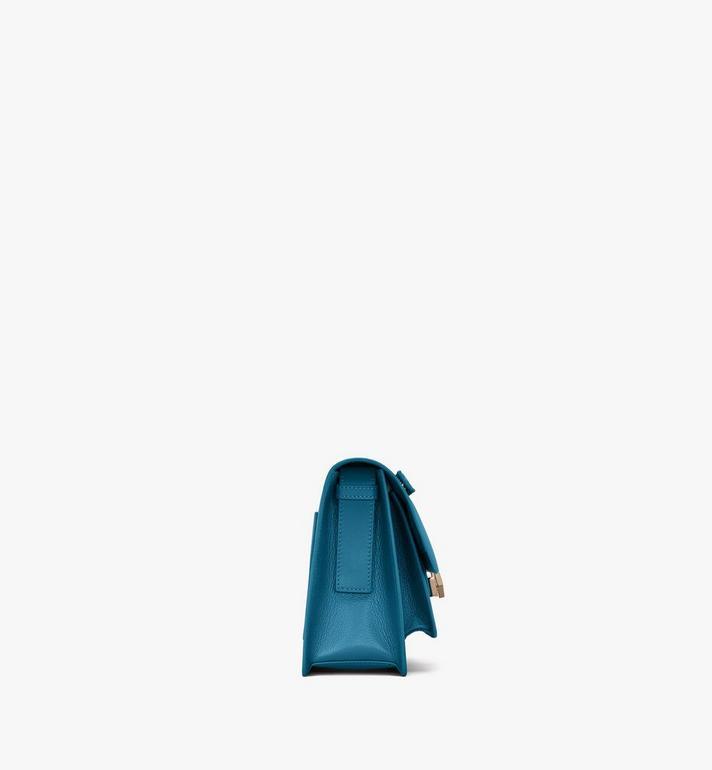 MCM Milano Shoulder Bag in Goatskin Leather Blue MWSASDA01JF001 Alternate View 2