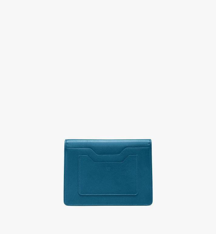 MCM Milano Shoulder Bag in Goatskin Leather Blue MWSASDA01JF001 Alternate View 3