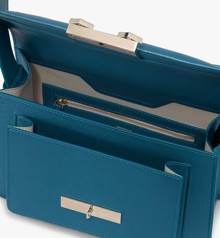 MCM Milano Shoulder Bag in Goatskin Leather Blue MWSASDA01JF001 Alternate View 4