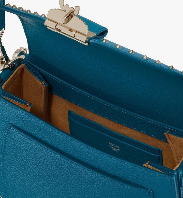 MCM Patricia Shoulder Bag in Studded Park Ave Leather Blue MWSASPA01JF001 Alternate View 4