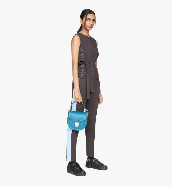 MCM Patricia Shoulder Bag in Studded Park Ave Leather Blue MWSASPA01JF001 Alternate View 5
