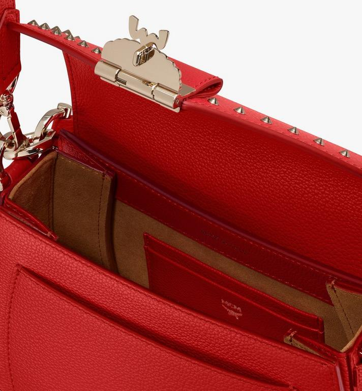 MCM Patricia Shoulder Bag in Studded Park Ave Leather Red MWSASPA01R4001 Alternate View 4