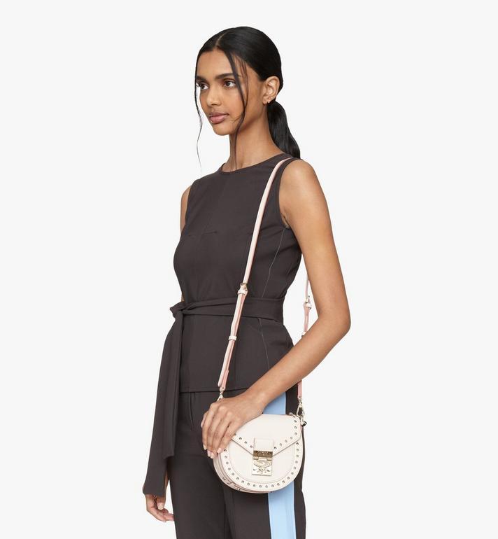 MCM Patricia Shoulder Bag in Studded Park Ave Leather Beige MWSASPA02IH001 Alternate View 6