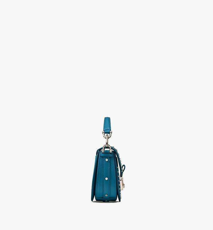 MCM Patricia Shoulder Bag in Studded Park Ave Leather Blue MWSASPA02JF001 Alternate View 2
