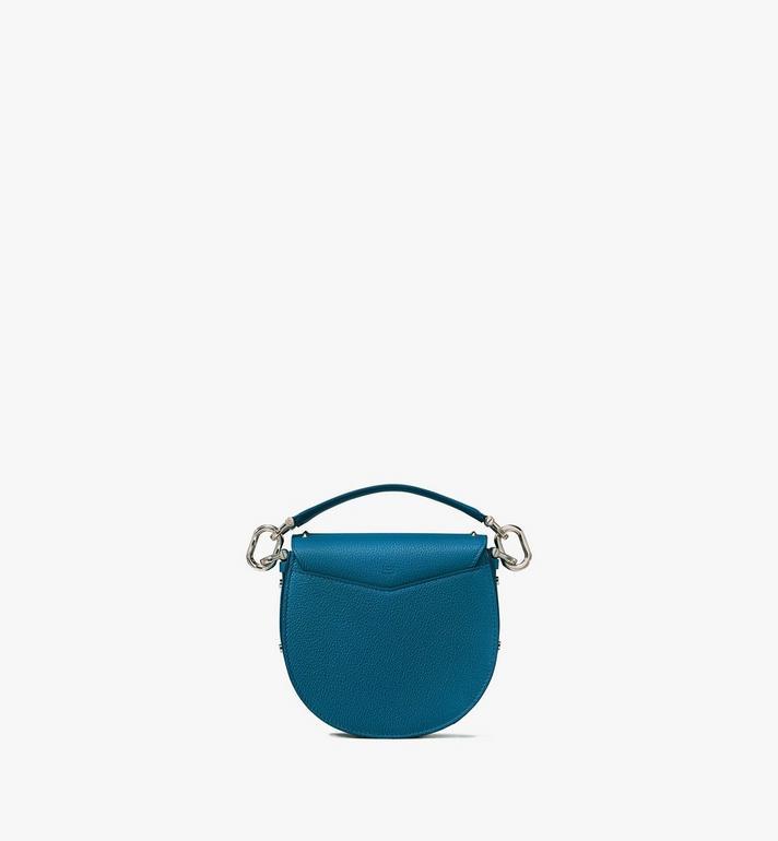 MCM Patricia Shoulder Bag in Studded Park Ave Leather Blue MWSASPA02JF001 Alternate View 3