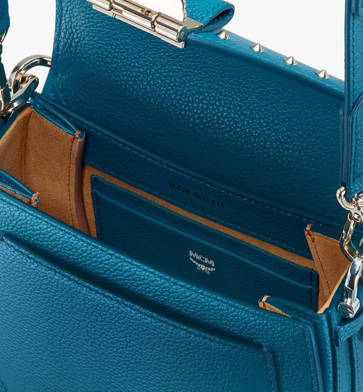 MCM Patricia Shoulder Bag in Studded Park Ave Leather Blue MWSASPA02JF001 Alternate View 4
