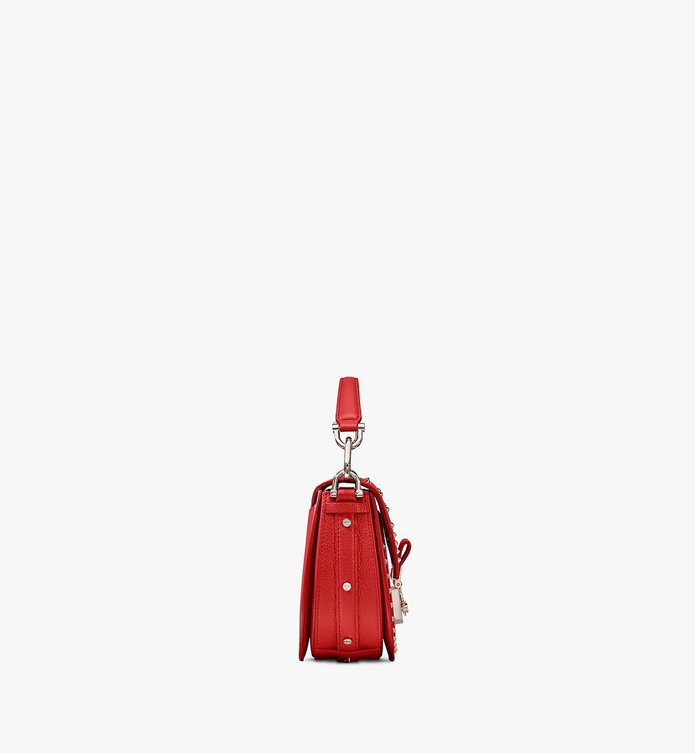 MCM Patricia Shoulder Bag in Studded Park Ave Leather Red MWSASPA02R4001 Alternate View 1