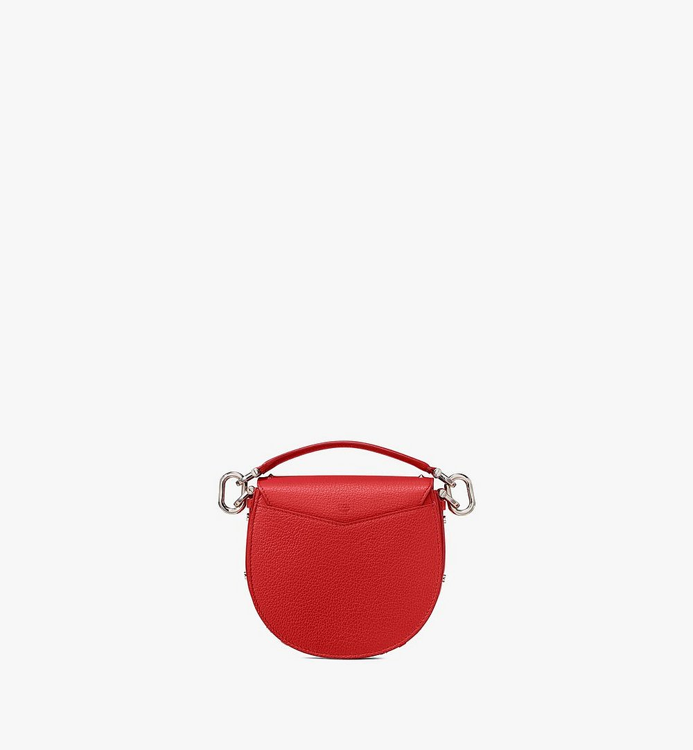 MCM Patricia Shoulder Bag in Studded Park Ave Leather Red MWSASPA02R4001 Alternate View 2