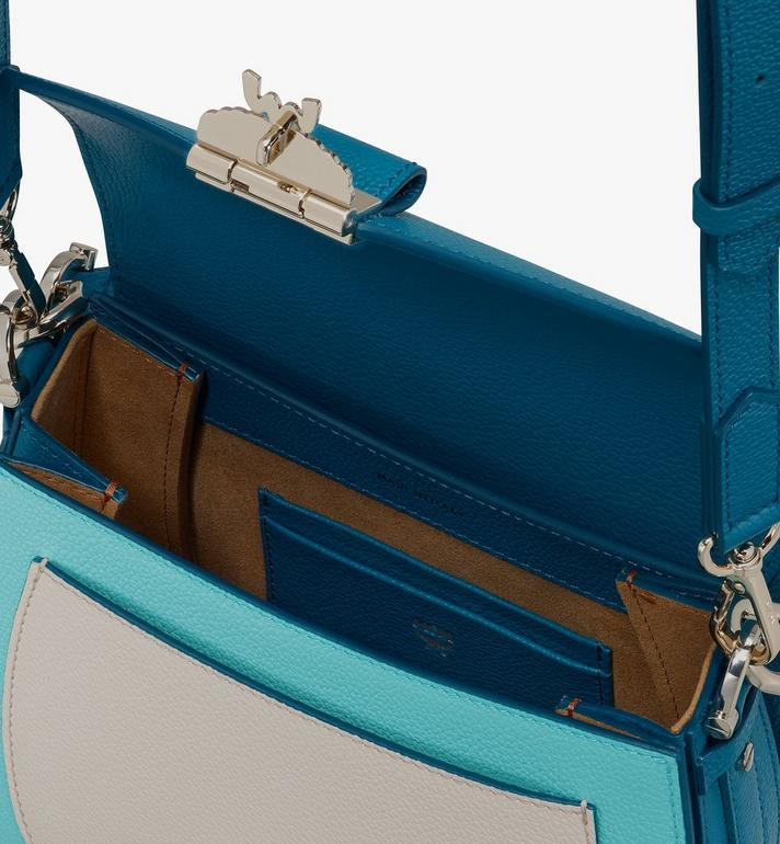 MCM Patricia Shoulder Bag in Color Block Leather Blue MWSASPA05JF001 Alternate View 4