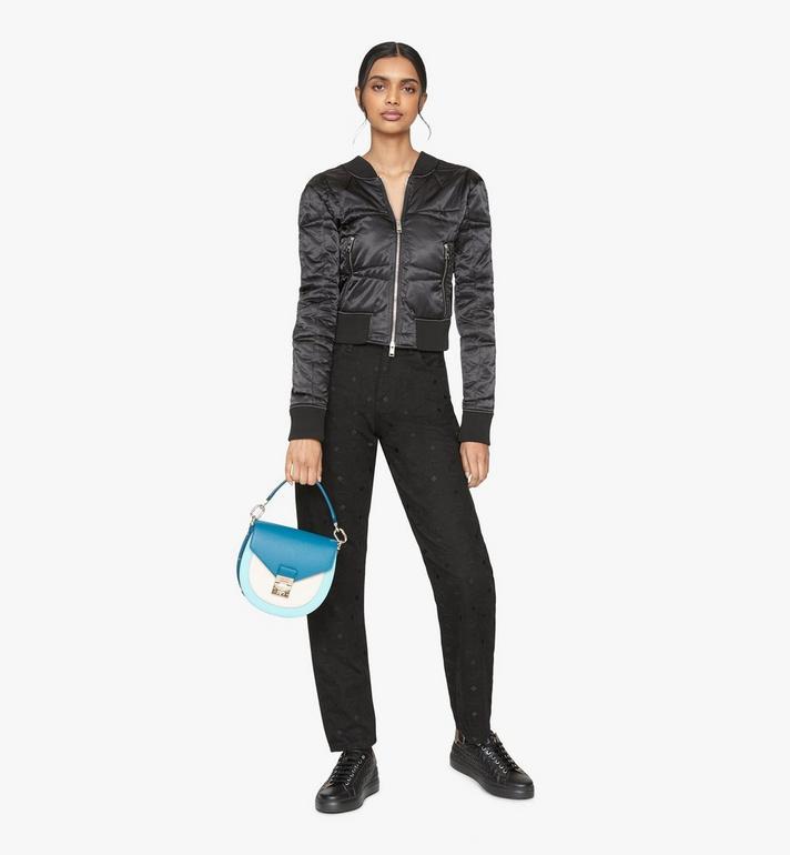 MCM Patricia Shoulder Bag in Color Block Leather Blue MWSASPA05JF001 Alternate View 5