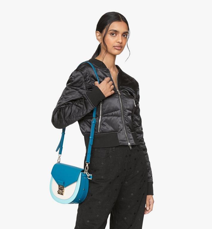 MCM Patricia Shoulder Bag in Color Block Leather Blue MWSASPA05JF001 Alternate View 6
