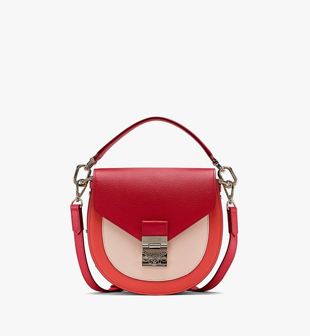 MCM Patricia Shoulder Bag in Color Block Leather Red MWSASPA05R4001 Alternate View 1