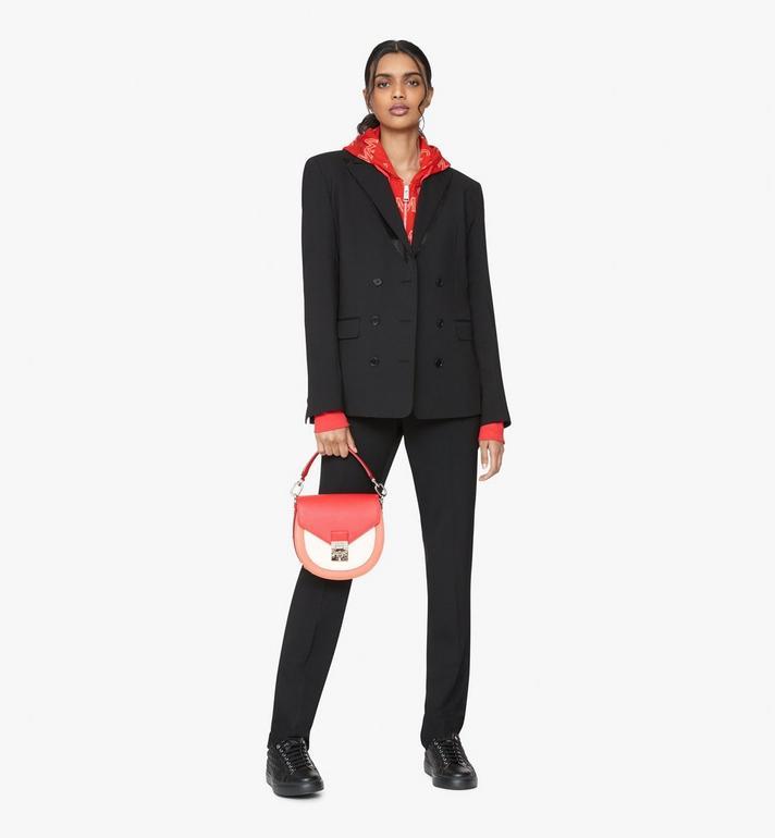 MCM Patricia Shoulder Bag in Color Block Leather Red MWSASPA05R4001 Alternate View 5