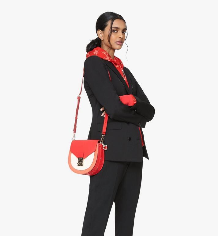 MCM Patricia Shoulder Bag in Color Block Leather Red MWSASPA05R4001 Alternate View 6