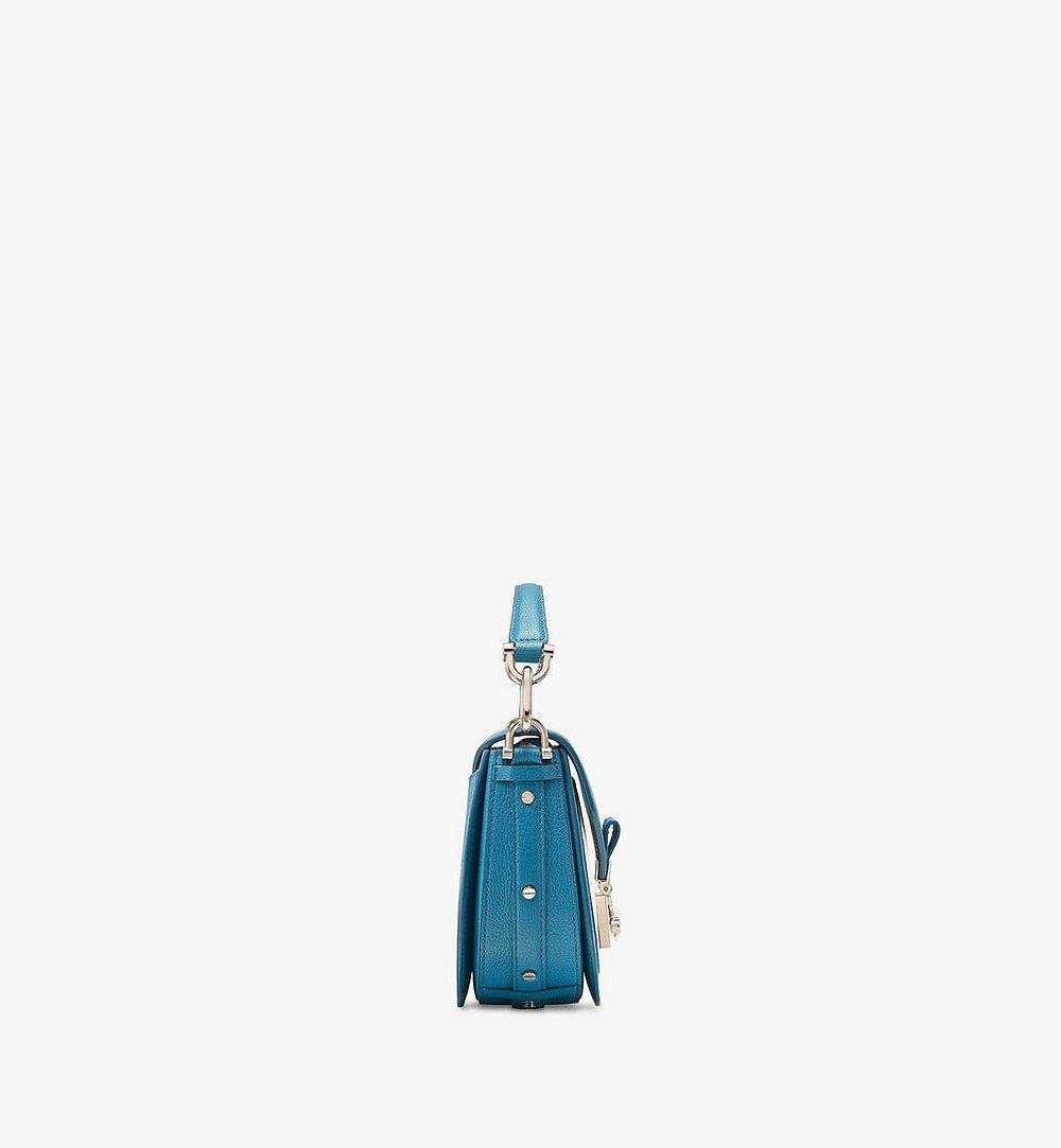 MCM Patricia Shoulder Bag in Color Block Leather Blue MWSASPA06JF001 Alternate View 1