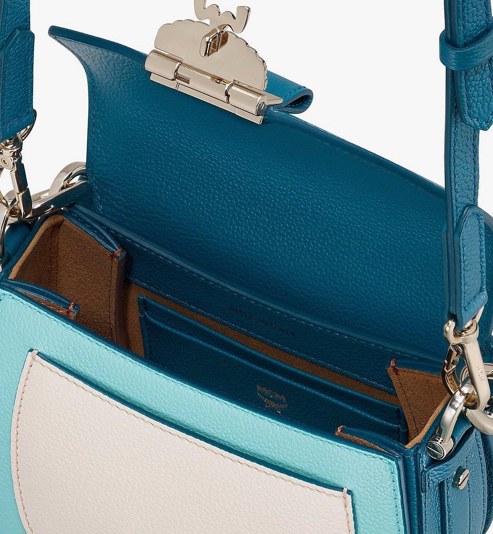 MCM Patricia Shoulder Bag in Color Block Leather Blue MWSASPA06JF001 Alternate View 3