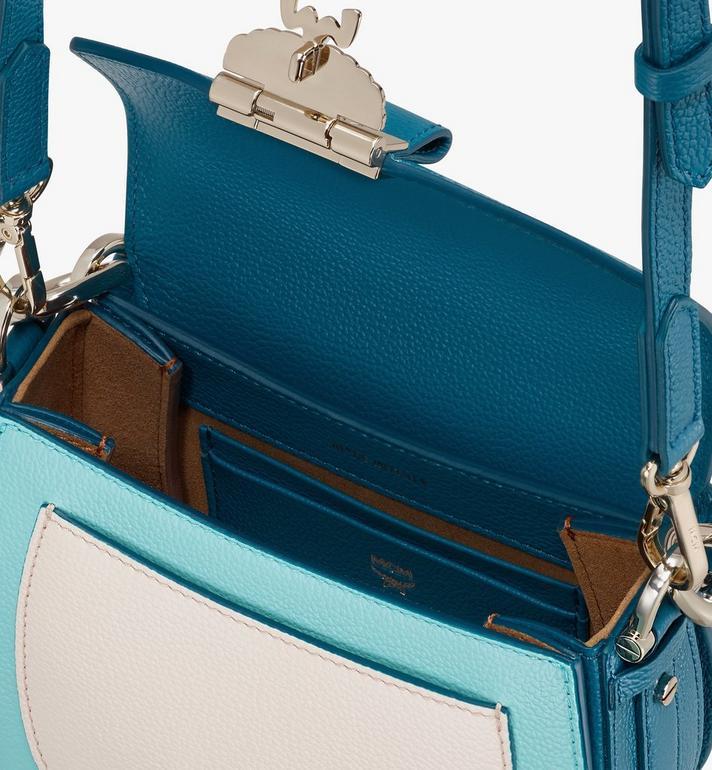 MCM Patricia Shoulder Bag in Color Block Leather Blue MWSASPA06JF001 Alternate View 4