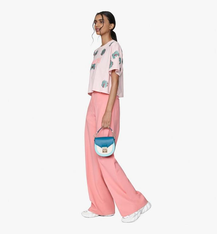 MCM Patricia Shoulder Bag in Color Block Leather Blue MWSASPA06JF001 Alternate View 5