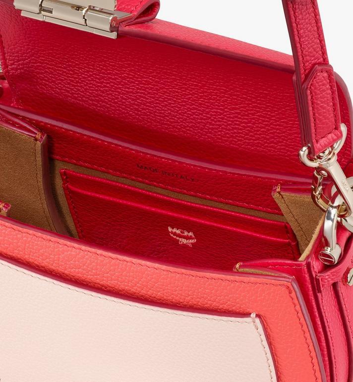MCM Patricia Shoulder Bag in Color Block Leather Red MWSASPA06R4001 Alternate View 4
