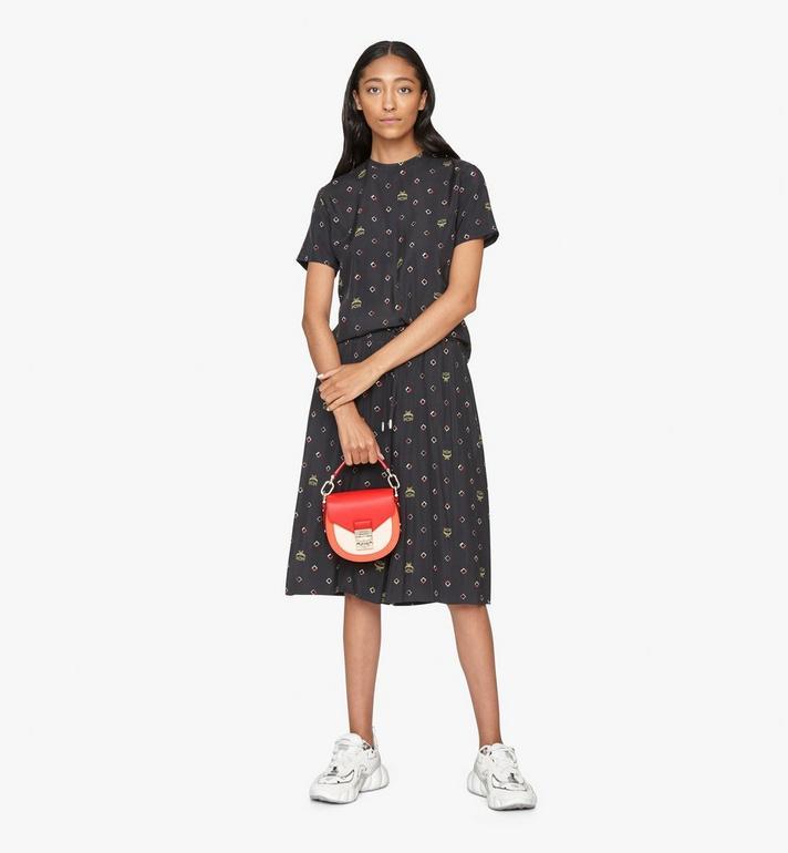 MCM Patricia Shoulder Bag in Color Block Leather Red MWSASPA06R4001 Alternate View 5