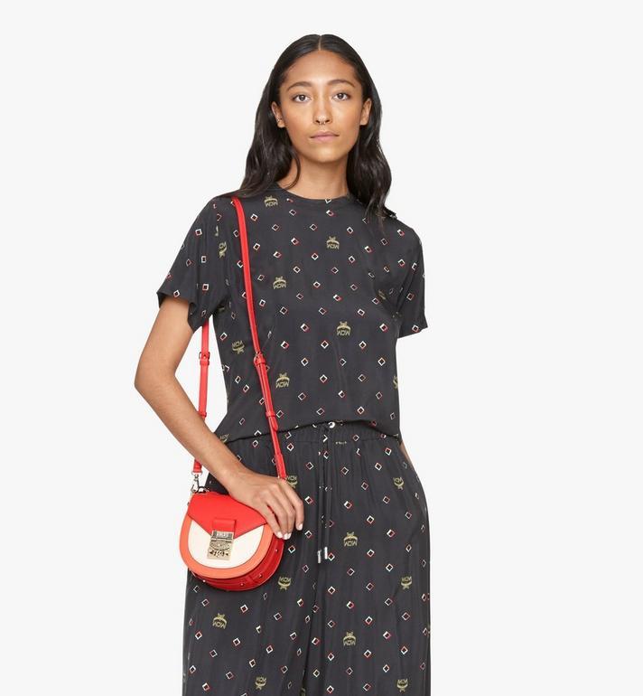 MCM Patricia Shoulder Bag in Color Block Leather Red MWSASPA06R4001 Alternate View 6