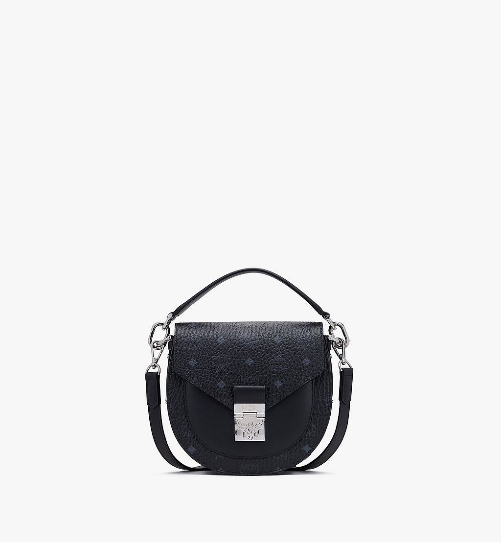 MCM Patricia Shoulder Bag in Visetos Black MWSASPA07BK001 Alternate View 1