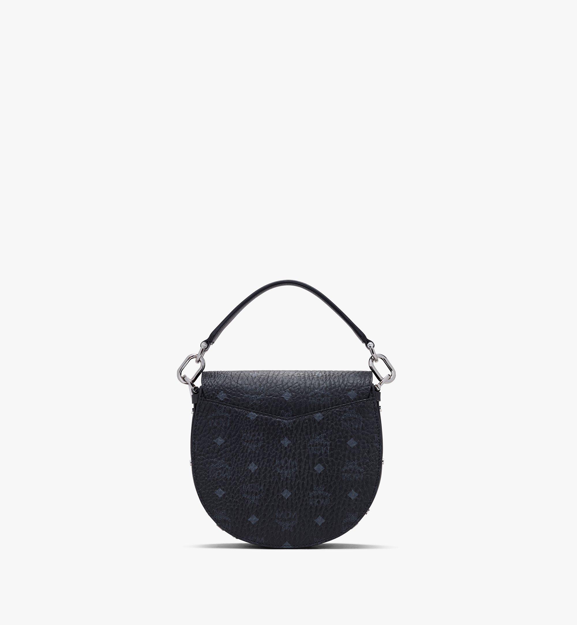 MCM Patricia Shoulder Bag in Visetos Black MWSASPA07BK001 Alternate View 2