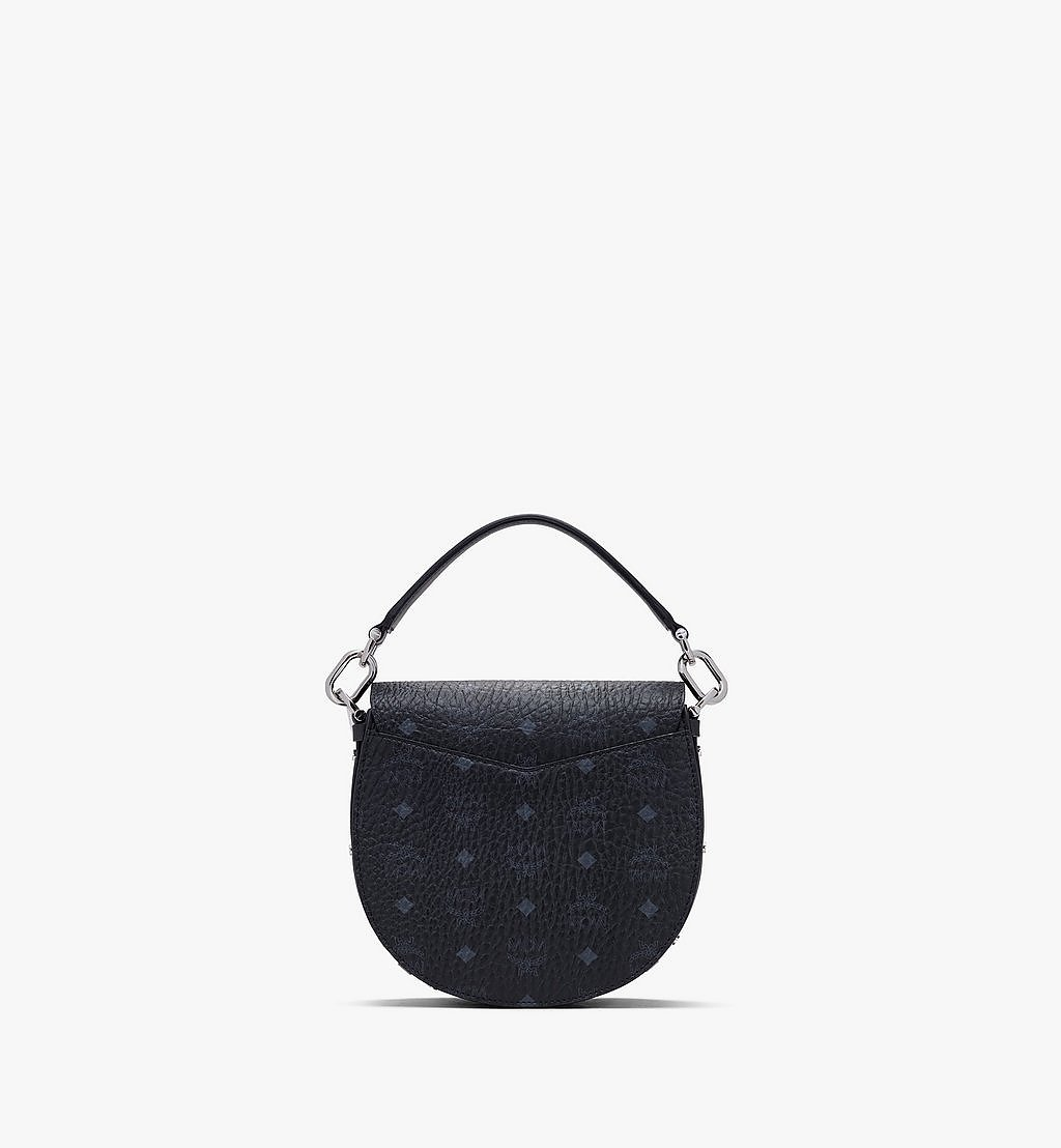 MCM Patricia Shoulder Bag in Visetos Black MWSASPA07BK001 Alternate View 2