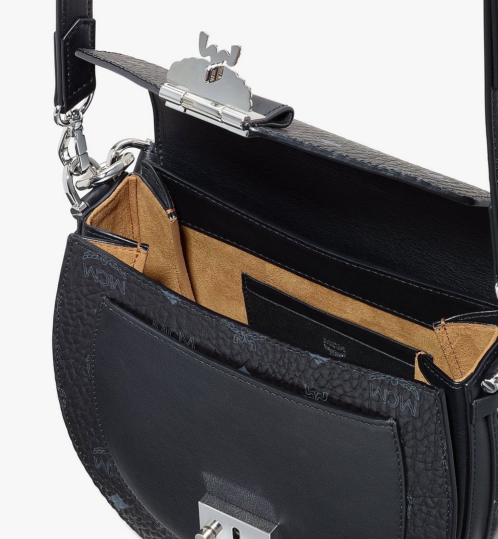 MCM Patricia Shoulder Bag in Visetos Black MWSASPA07BK001 Alternate View 3