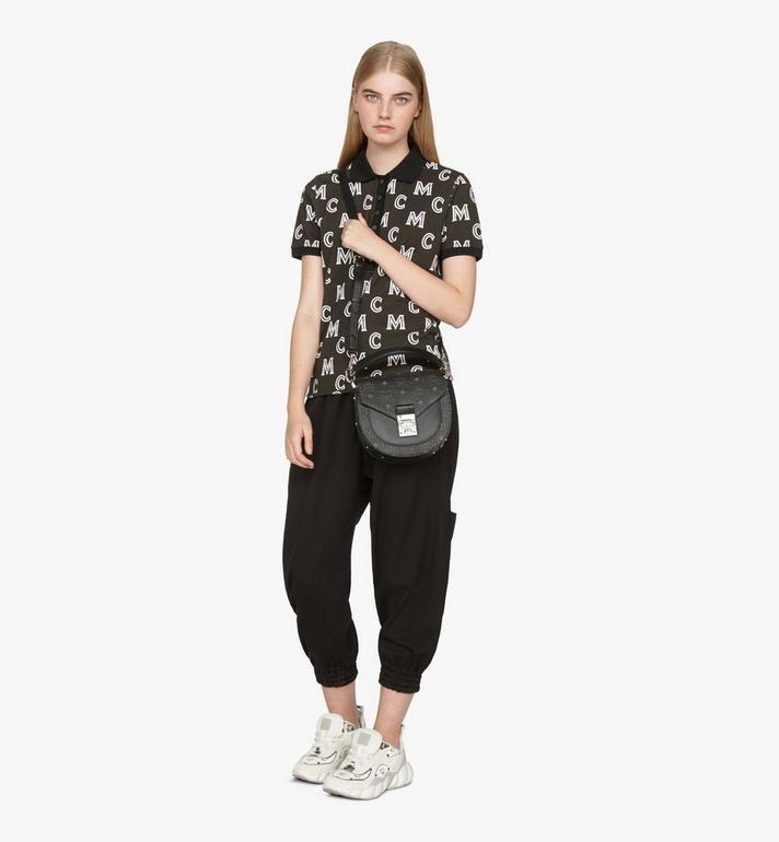 MCM Patricia Shoulder Bag in Visetos Black MWSASPA07BK001 Alternate View 5