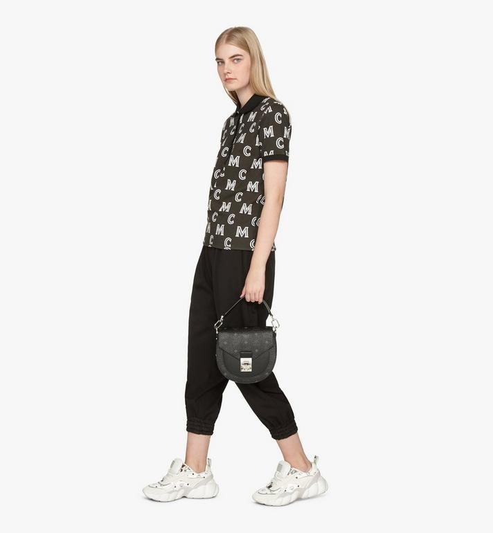 MCM Patricia Shoulder Bag in Visetos Black MWSASPA07BK001 Alternate View 6