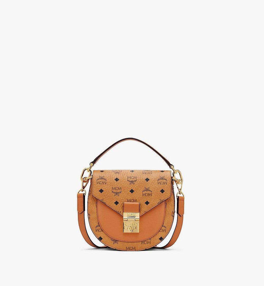 MCM Patricia Shoulder Bag in Visetos Cognac MWSASPA07CO001 Alternate View 1