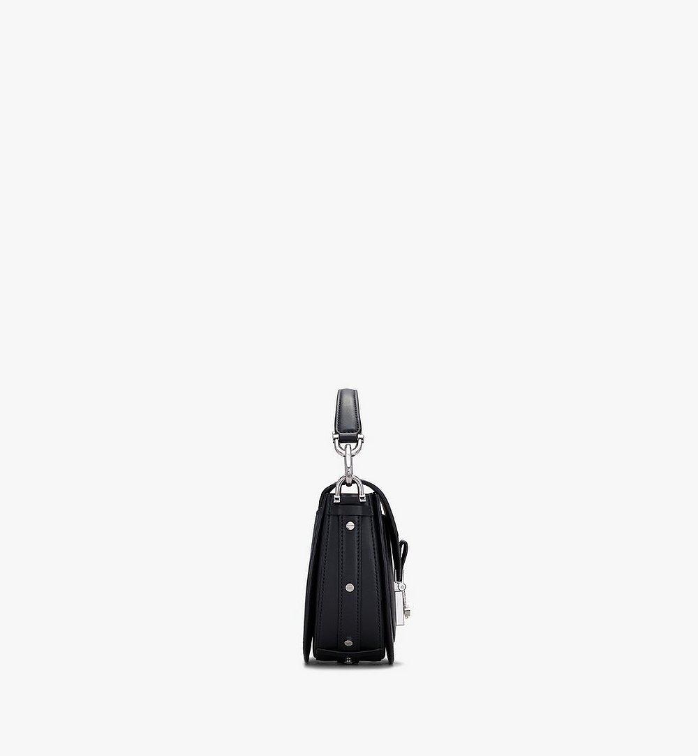 MCM Patricia Mini Shoulder Bag in Visetos Black MWSASPA08BK001 Alternate View 1