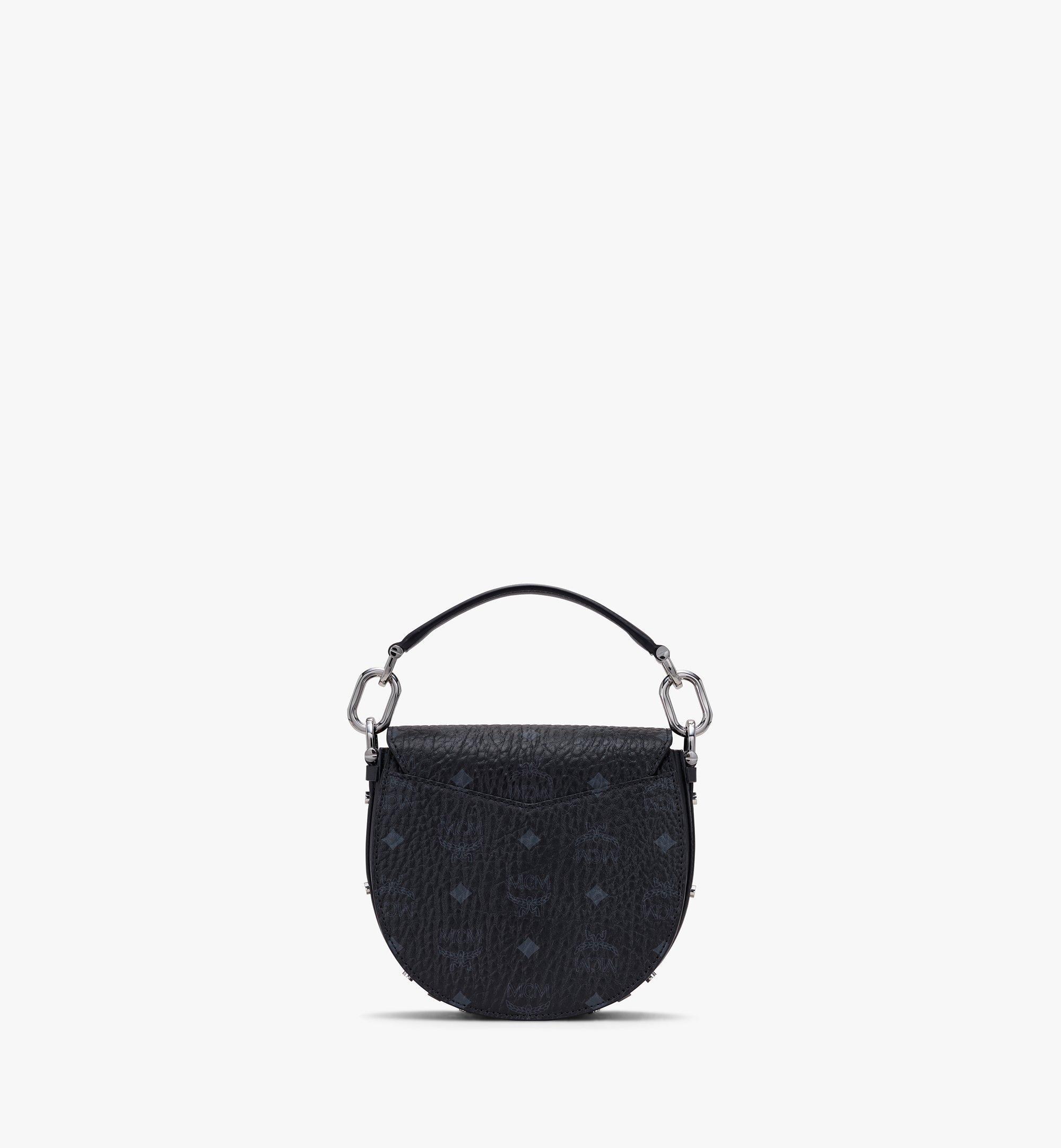 MCM Patricia Shoulder Bag in Visetos Black MWSASPA08BK001 Alternate View 3