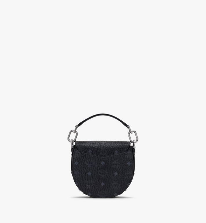 MCM Patricia Mini Shoulder Bag in Visetos Black MWSASPA08BK001 Alternate View 3