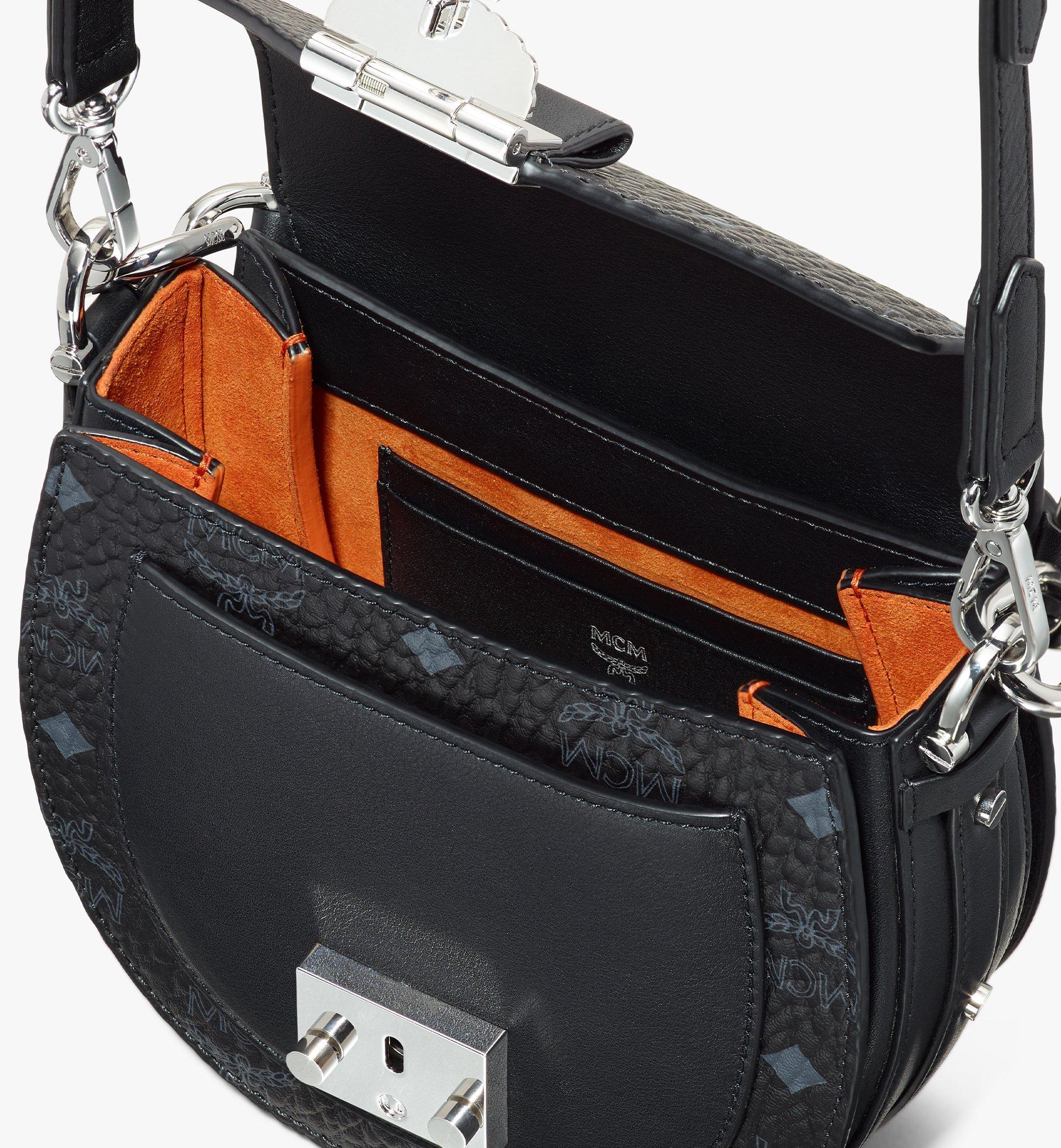 MCM Patricia Shoulder Bag in Visetos Black MWSASPA08BK001 Alternate View 4