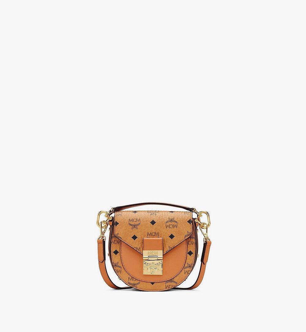 MCM Patricia Mini Shoulder Bag in Visetos Cognac MWSASPA08CO001 Alternate View 1