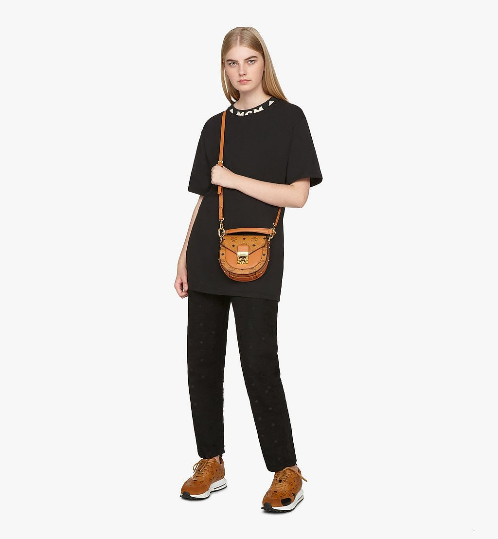 MCM Patricia Shoulder Bag in Visetos Cognac MWSASPA08CO001 Alternate View 2