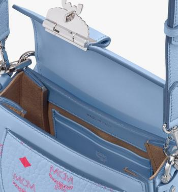 MCM Patrica Shoulder Bag in Color Block Visetos Blue MWSASPA13H2001 Alternate View 4