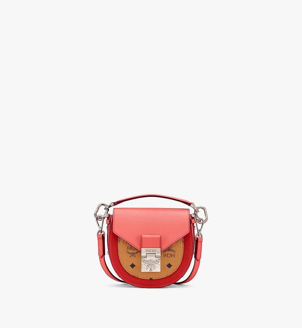 MCM Patricia Shoulder Bag in Color Block Visetos Red MWSASPA13O3001 Alternate View 1