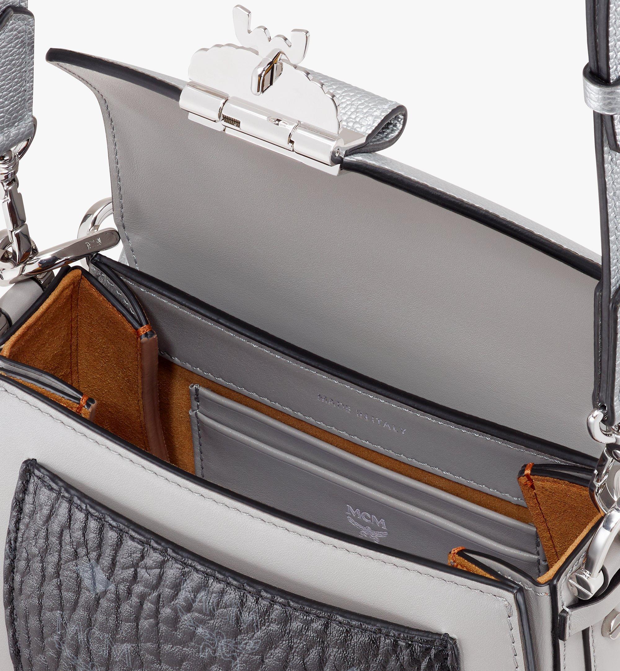 MCM Patricia Shoulder Bag in Color Block Visetos Silver MWSASPA13SE001 Alternate View 4