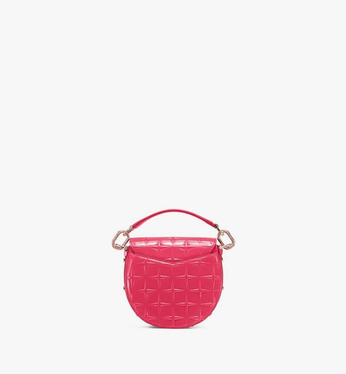 MCM Patricia Shoulder Bag in Diamond Patent Leather Pink MWSASPA14QE001 Alternate View 3