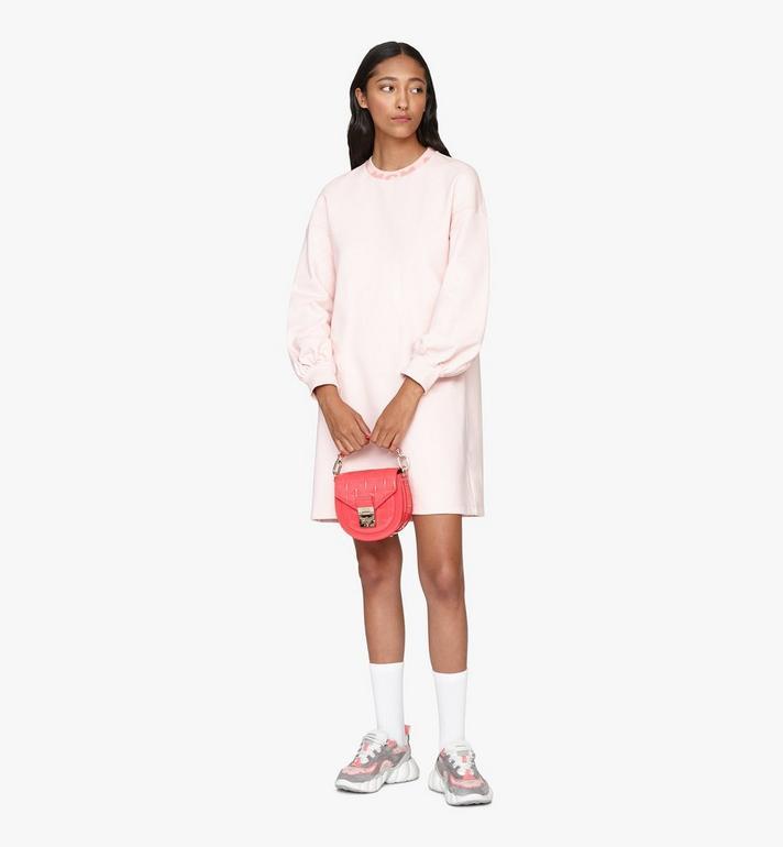 MCM Patricia Shoulder Bag in Diamond Patent Leather Pink MWSASPA14QE001 Alternate View 6