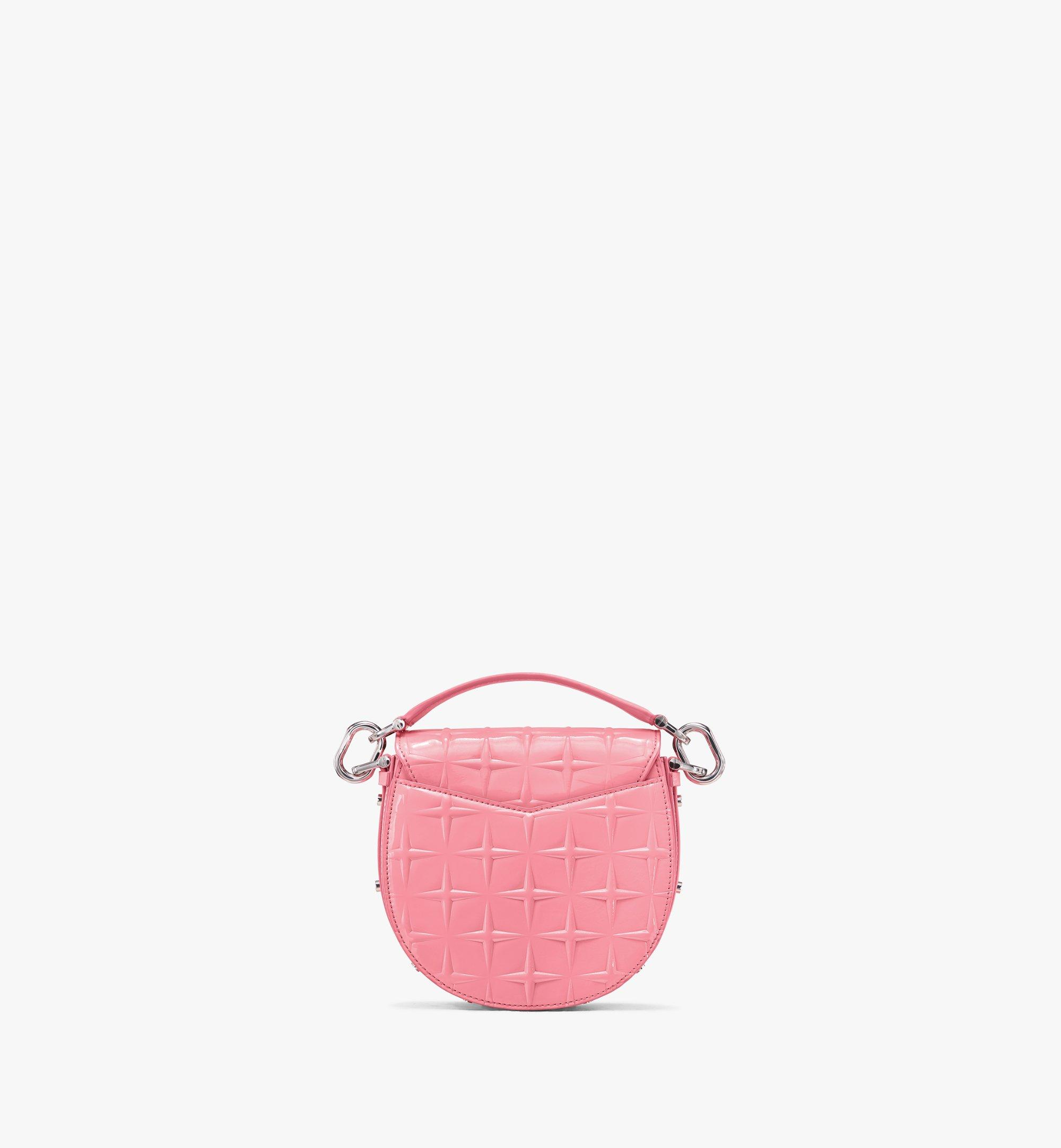 MCM Patricia Shoulder Bag in Diamond Patent Leather Pink MWSASPA14QG001 Alternate View 3